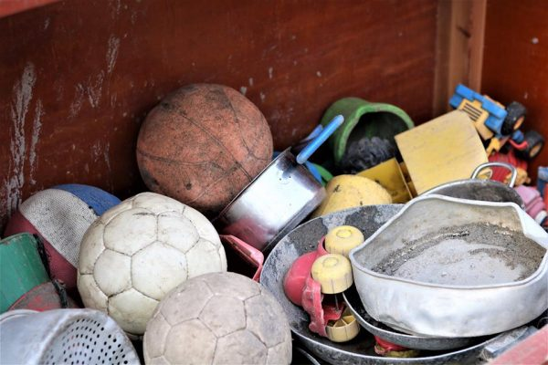 Uldum Skole affaldssorterer