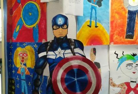 Superhelte flytter ind på Hedensted biblioteket