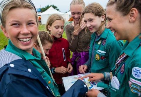Pigespejderne fejrer 100 år, foto: Johan Stauner Bill