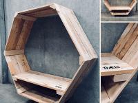 HexagonVægbænk, foto: TrÆls